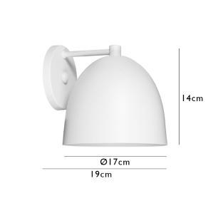 Arandela Dome 732 Branco para 1 Lâmpada E27- DL732