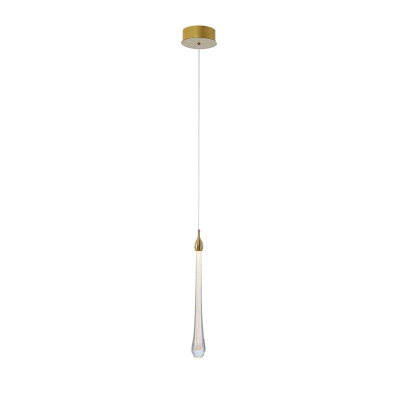 Pendente Goccia Dourado com LED 2w Branco Quente