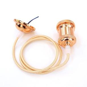 Pendente Retrô Socket na Cor Ouro Rosé para 1*E-27