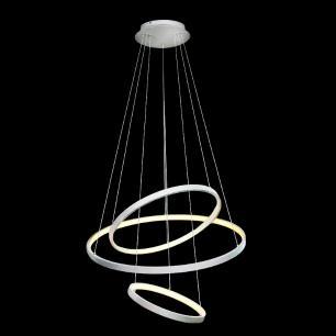 Pendente Rings com 3 Aros Branco com LED +Luz