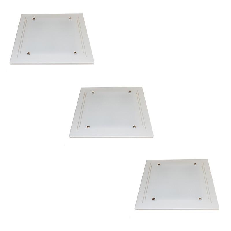 Kit 3 Plafon Sobrepor 3*E27 Cada - KIT3PFSOBJAT40