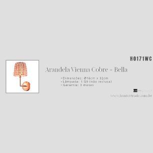 Arandela Vienna Cobre/Transparente para 1*G9