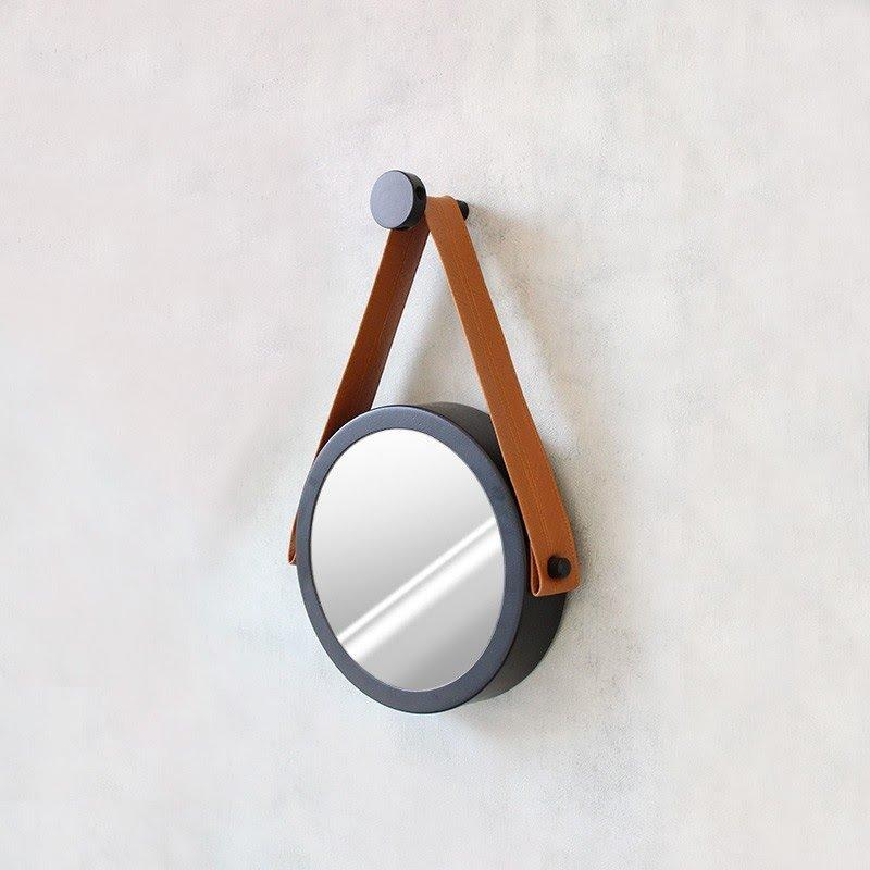 Espelho Adnet 20cm Preto e Caramelo - HTADNET-20