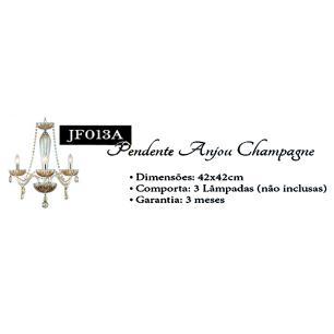 Lustre Anjou Champagne para 3 Lâmpadas E14 -JF013A