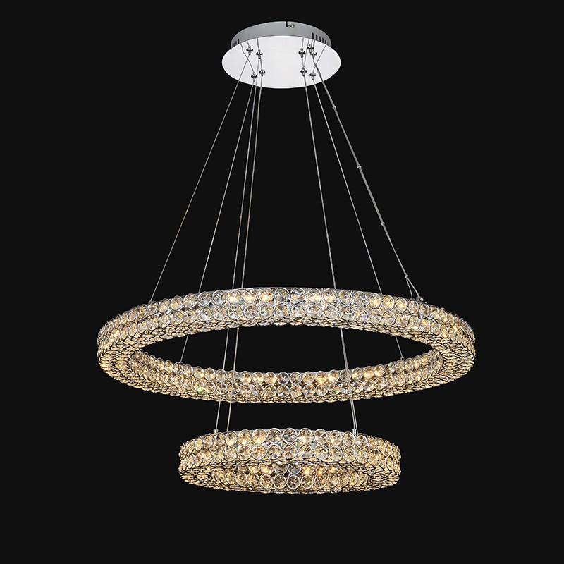 Pendente Cristal Aliança LED 3000k 46w - DCD00305