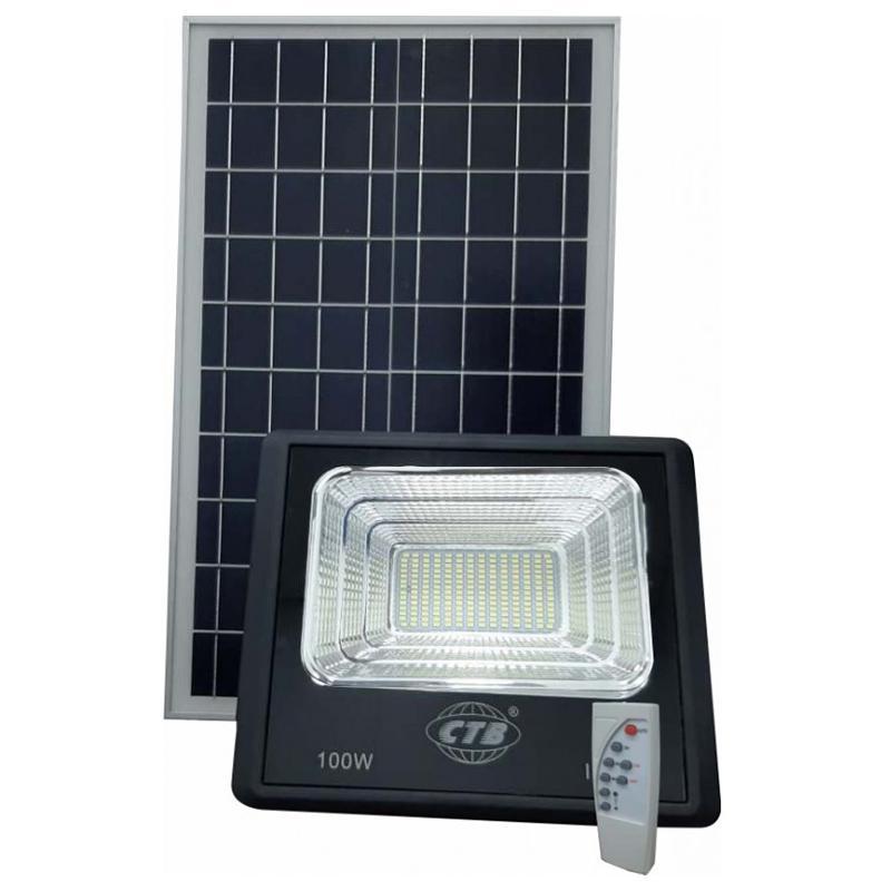 Refletor LED Solar 100w LED Integrado Branco Frio