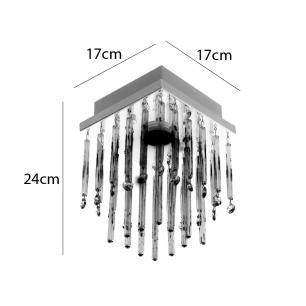 Lustre Plafon Tubo Glass para 1 GU10 - TUBOGLASS