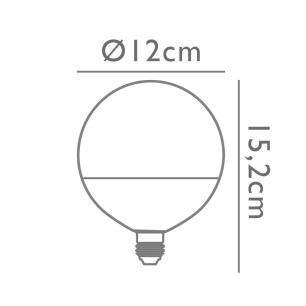 Lâmpada G120 15w 2700K Branco Quente Opus LP-34218