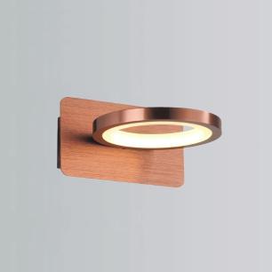 Arandela Cobre Escovado LED Branco Quente EDC12721