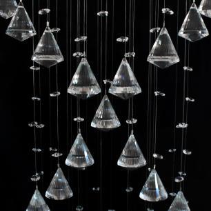 Lustre de Cristal DNA-45 com Piões para 5**GU10