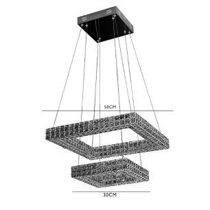 Pendente Aliança Cristal LED 3000k 46W - DCD00307