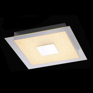 Plafon Quadrado Luxo Cromado Cristal LED 3000K 17w