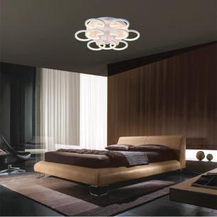 Plafon em Alumínio e Acrílico LED Branco Quente