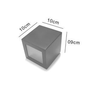 Arandela Cubo G Facho Duplo Branca para 1 G9