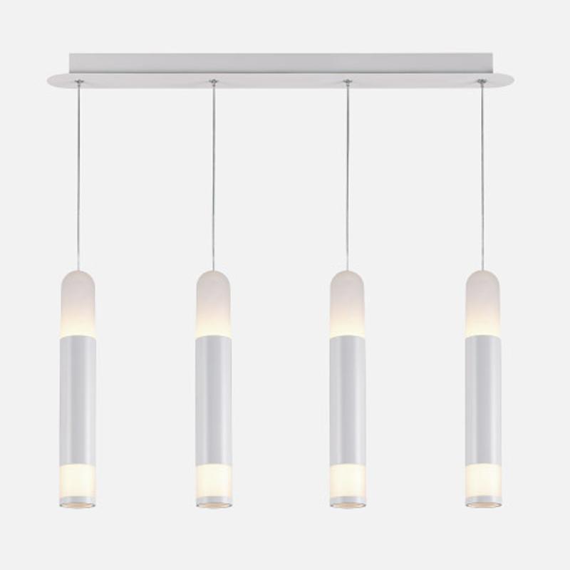 Pendente com 4 Tubos LED Branco Quente - EDE12217