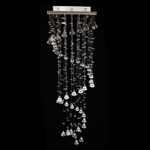 Lustre De Cristal Peão 38x38x120cm Jp/Ishikawa/38