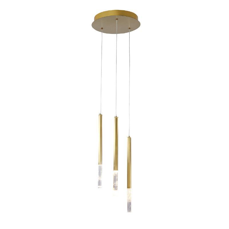 Pendente Pétra Dourado com LED Branco Quente 2W