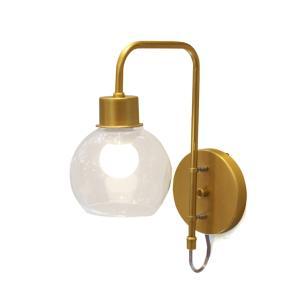 Arandela Pavia Dourado e Transparente para 1 E-27