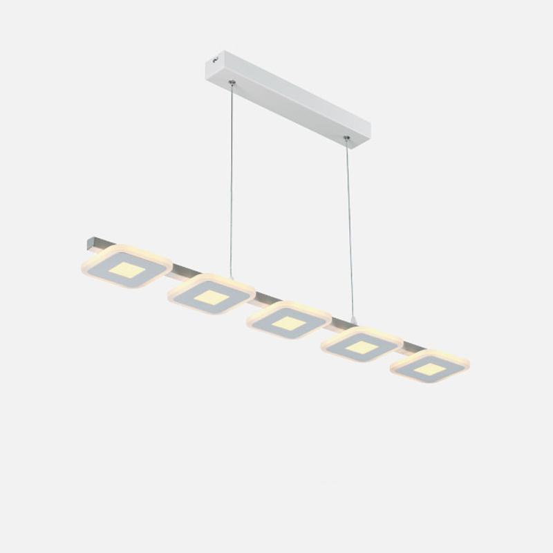 Pendente em Alumínio e Acrílico LED Branco Quente