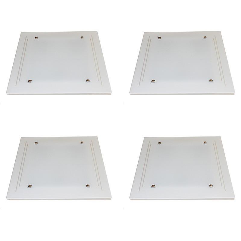 Kit 4 Plafons Sobrepor 3*E27 cada - KIT4PFSOBJAT40