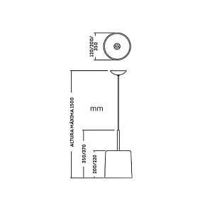Pendente Bilboquê Ø35cm para 1 E-27 25w Branco