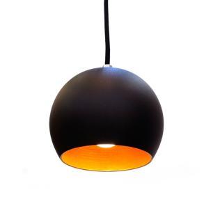 Pendente Ball Preto e Cobre para 1*E27 HTBALL-PTCO