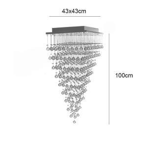 Lustre Pirâmide 43x43x100cm para 9*GU10 NAGOYA-43