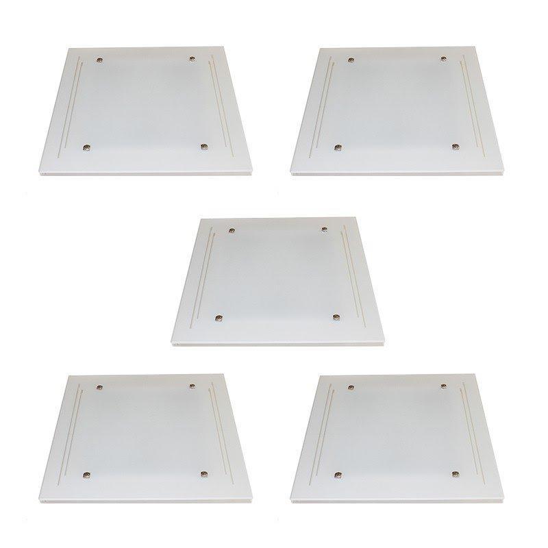 Kit 5 Plafons Sobrepor 2*E27 cada KIT5PFSOBBJAT30