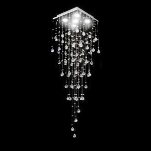 Lustre De Cristal Mie 38x38x120cm - Jp Mie 38