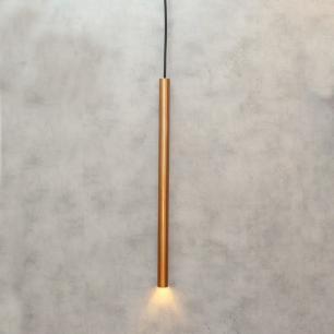 Pendente Tubo Cobre 50cm para 1 Lâmpada G9
