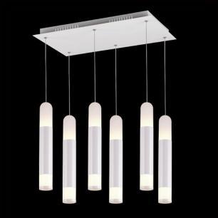 Pendente com 6 Tubos com LED Branco Quente 60W