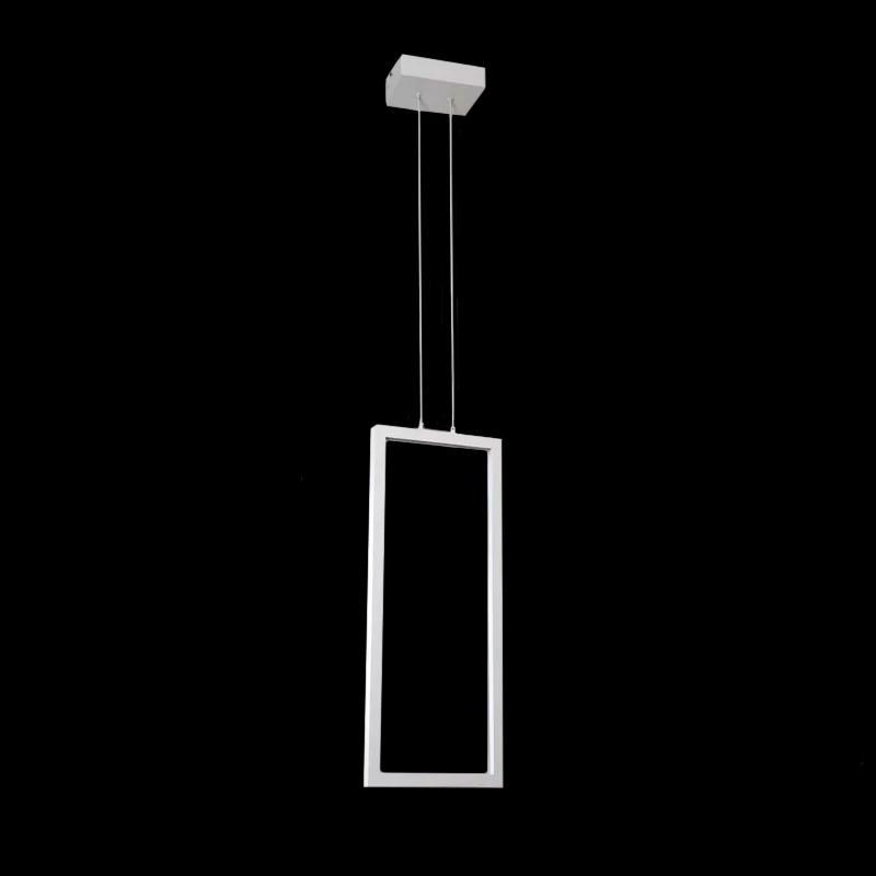 Pendente Retangular Montaggio Branco LED Integrado