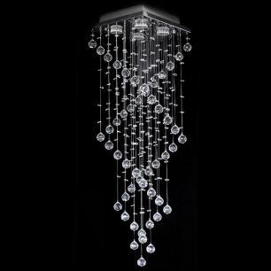 Lustre De Cristal Original 28x28x90cm Jp-Aomori-28