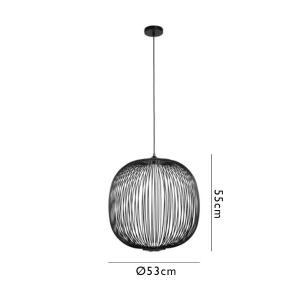 Pendente Aral Preto com LED Integrado 8w Bella