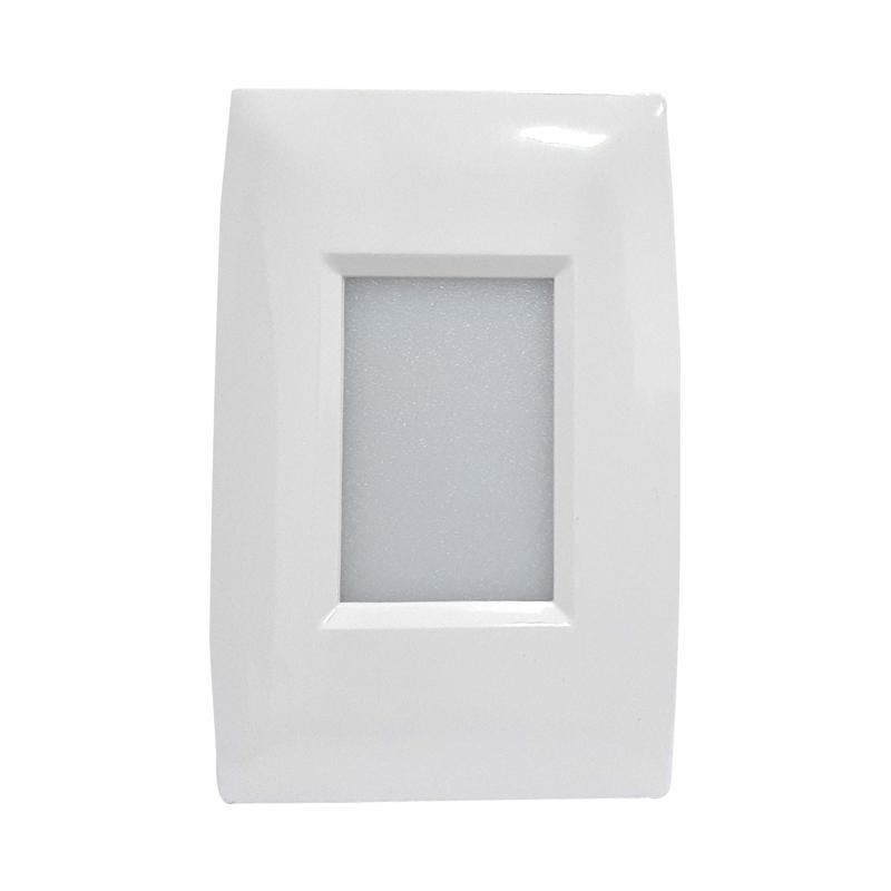 Balizador de Parede Modelo A com LED Branco Quente