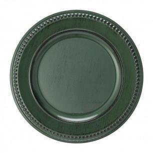Sousplat galles dots green antique copa & cia