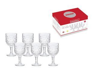 Jogo de 6 taças points 345 ml hauskraft