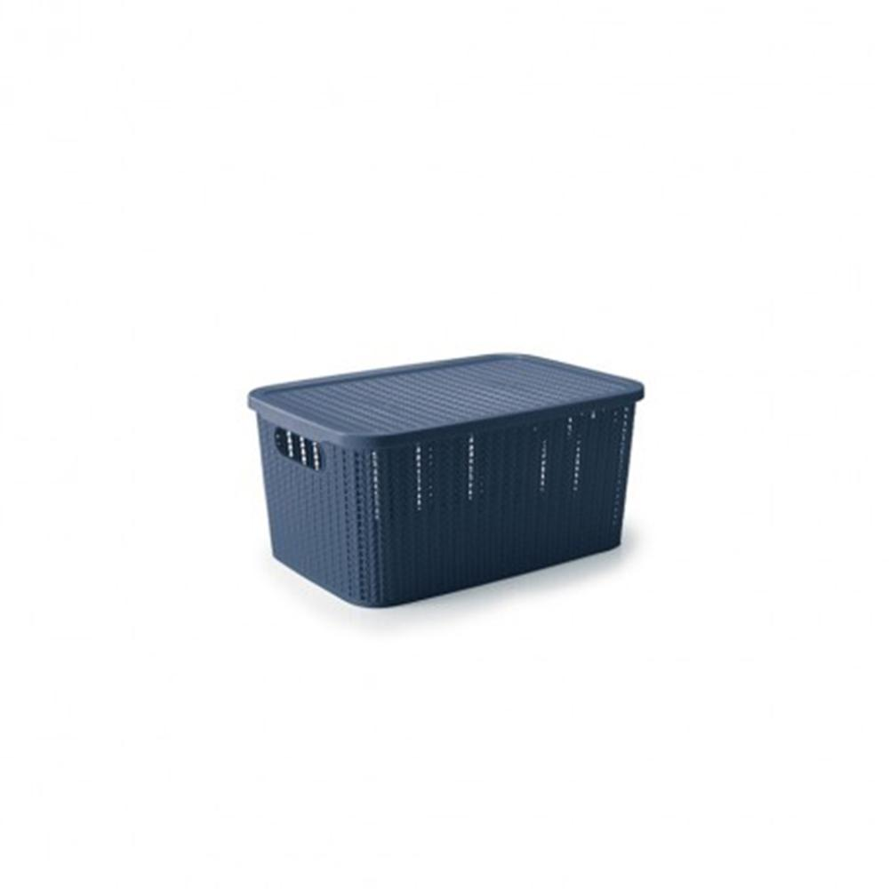 Caixa organizadora trama 2,8L azul - Plasútil
