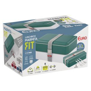 Marmita lunch box fit verde - Euro Home