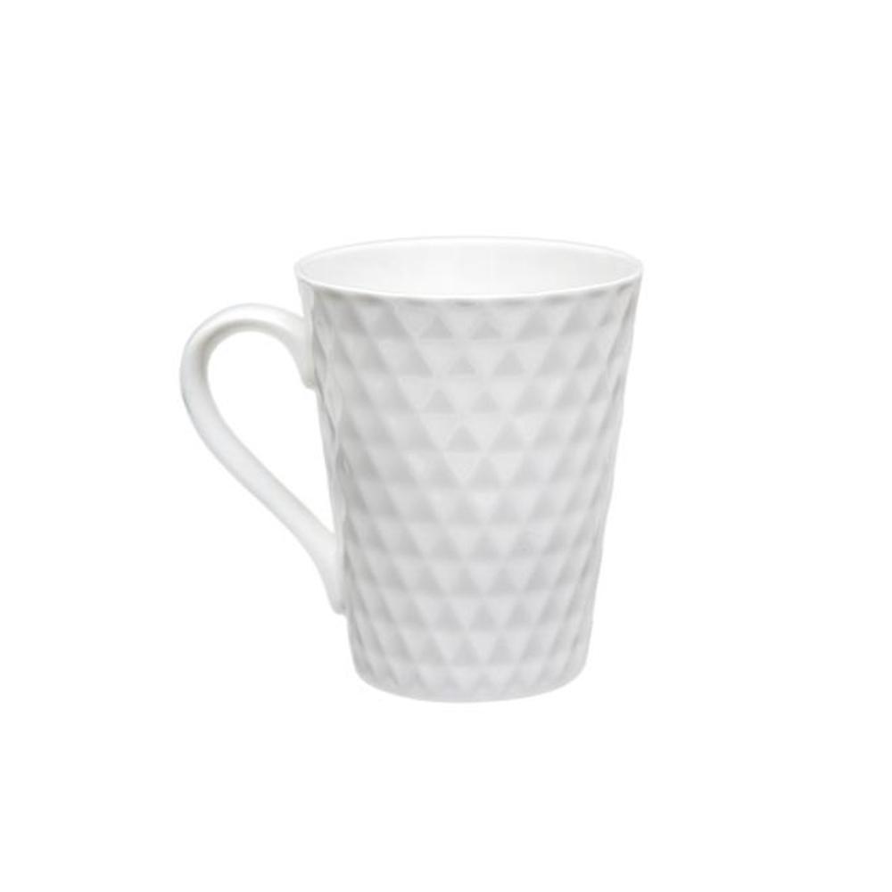 Caneca porcelana alto relevo baut 340ml texturizada