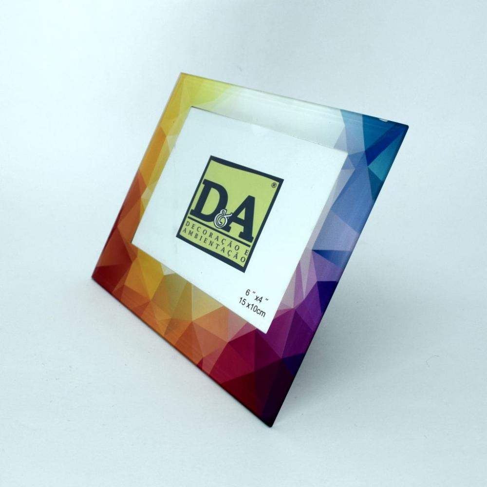Porta-retrato vidro azulejo português Vert/Hor - Colorido - DeA