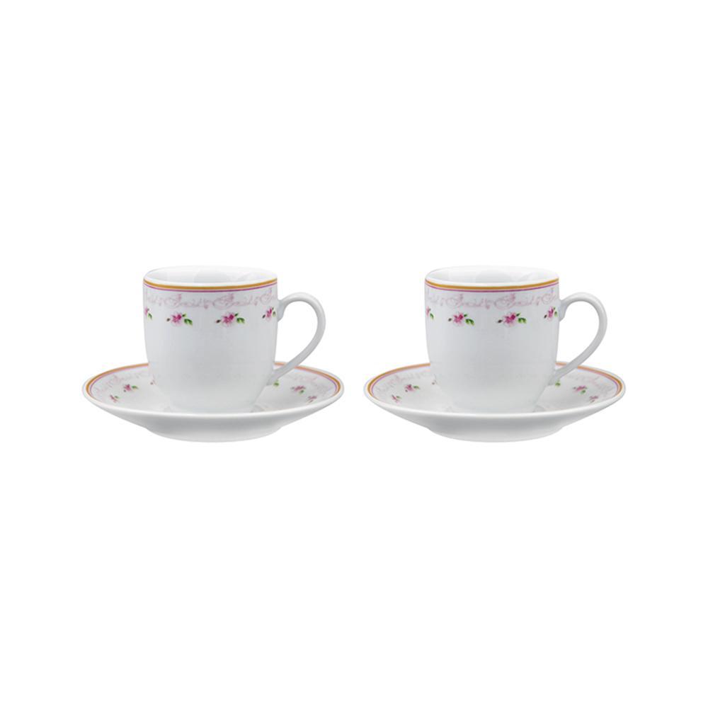 Jogo de xícaras para café 90ml 4 peças porcelana