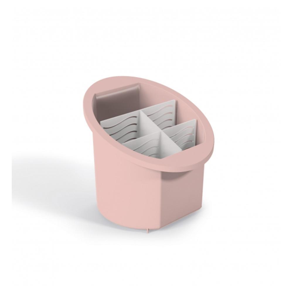 Porta talheres com divisões rosa - Uz Utilidades