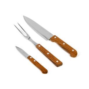 Jogo para churrasco 3 peças Woodcolor - Marcamix
