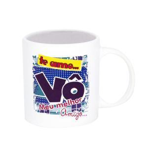 Xicara personalizada para Vó - Ceramica Regina