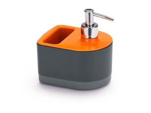 Dispenser para detergente e bucha cor laranja - Arthi