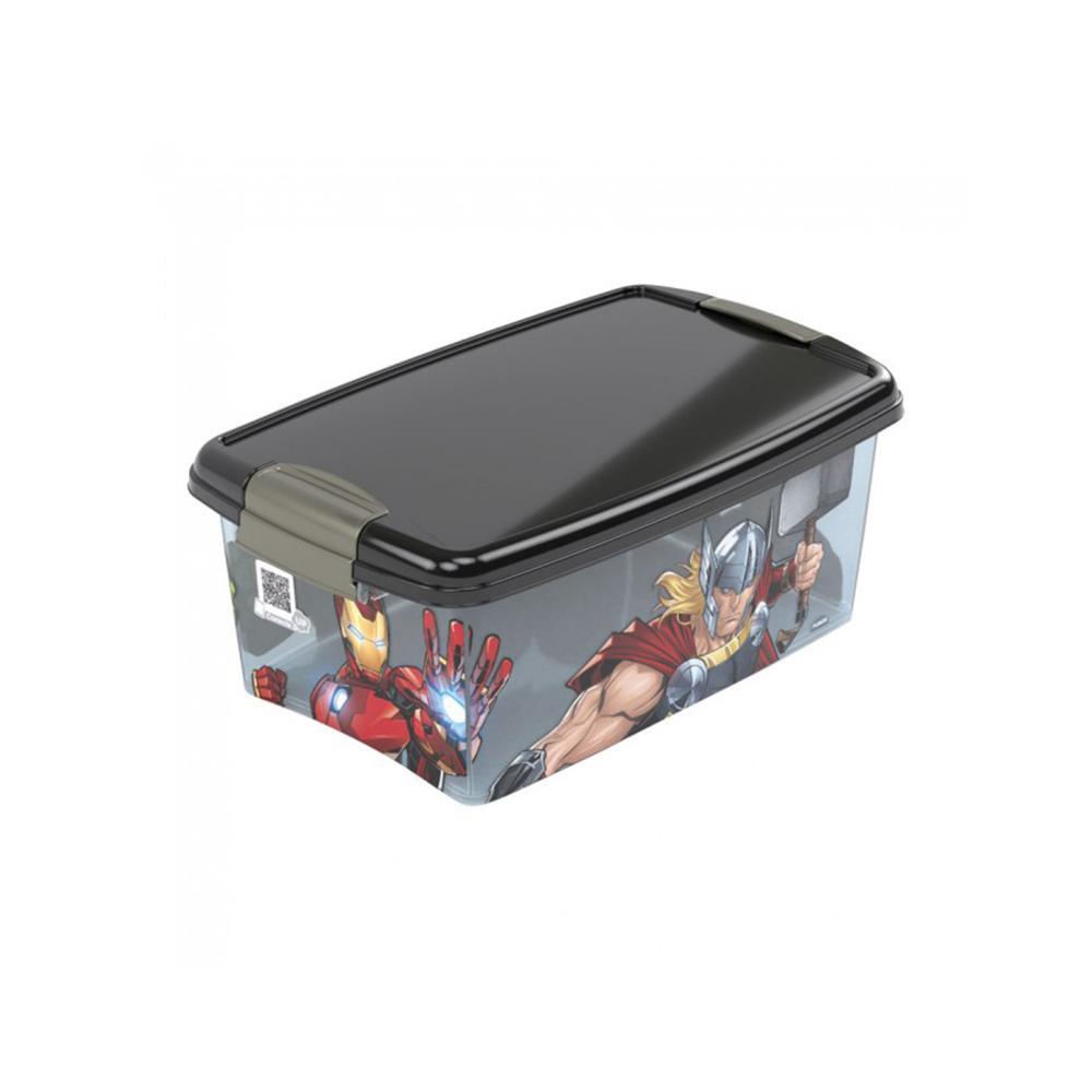Caixa organizadora com travas 4,2L avengers - Plasútil