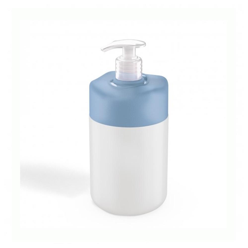 Porta sabonete líquido branco com tampa azul - Uz