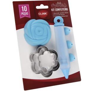 Kit confeiteiro cores e moldes diversos - Clink
