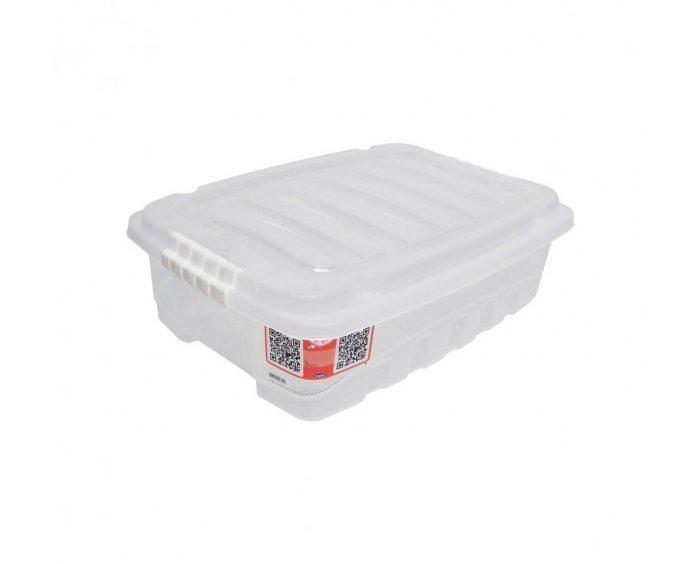 Caixa organizadora granbox baixa transparente 9,3 litros - Plasútil